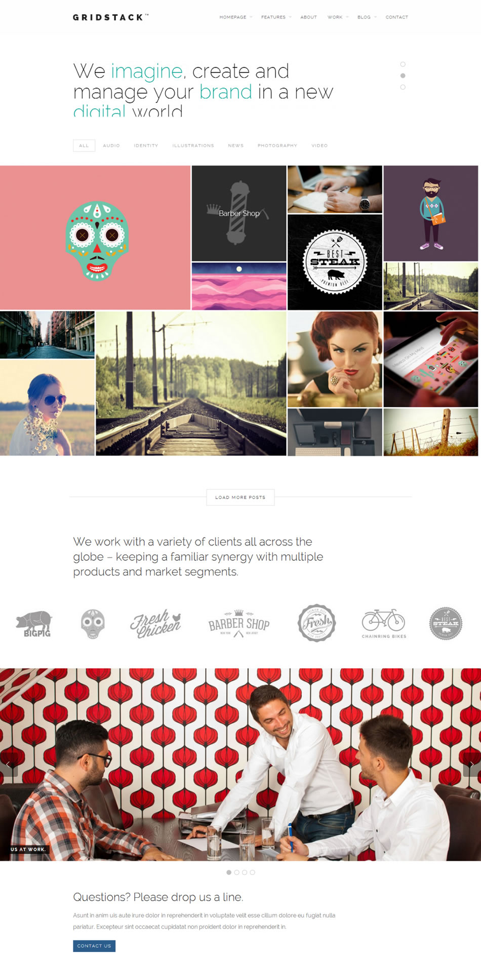 gridstack wordpress theme screenshot