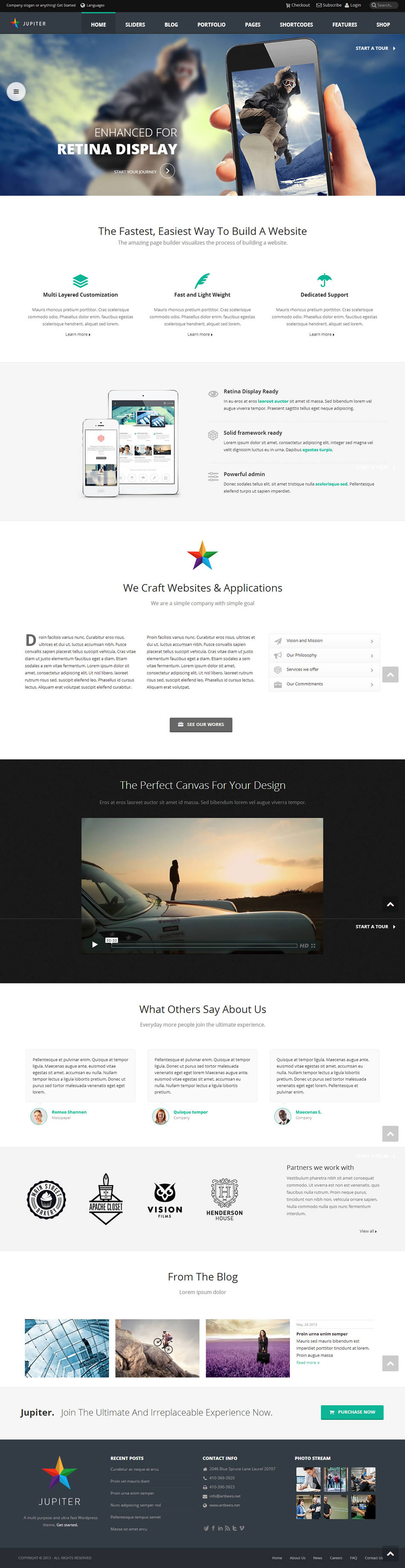 jupiter wordpress theme screenshot