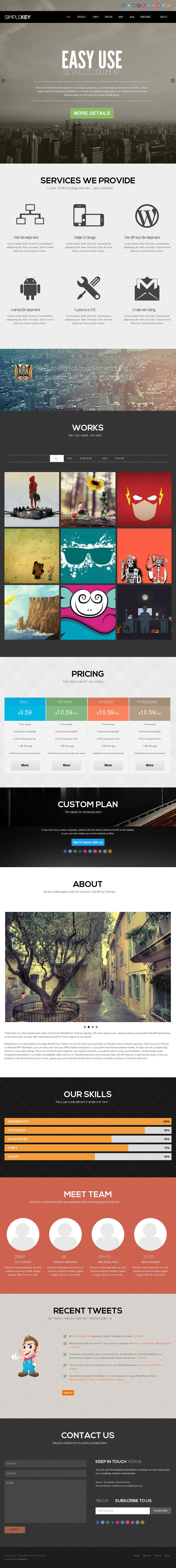 simplekey wordpress theme screenshot