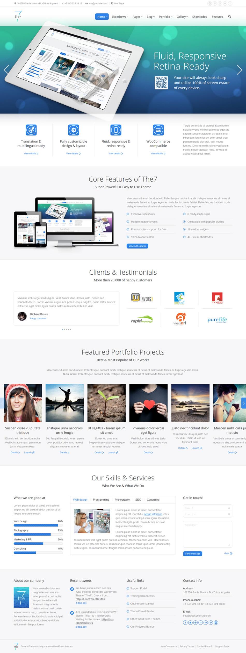 the 7 wordpress theme screenshot